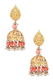 Gold Finish Temple Earrings by Sonnet Jewellery