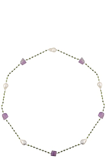 Multicolor Stone Necklace by Art Karat