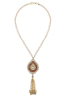 Gold Finish Temple Pendant Necklace by Sonnet Jewellery