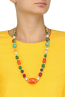 Multicolour Beads Necklace by Art Karat
