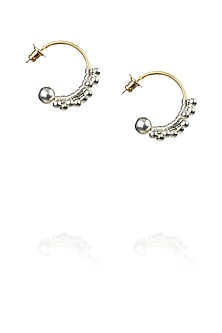 Gold finish hoop earrings by Art Karat