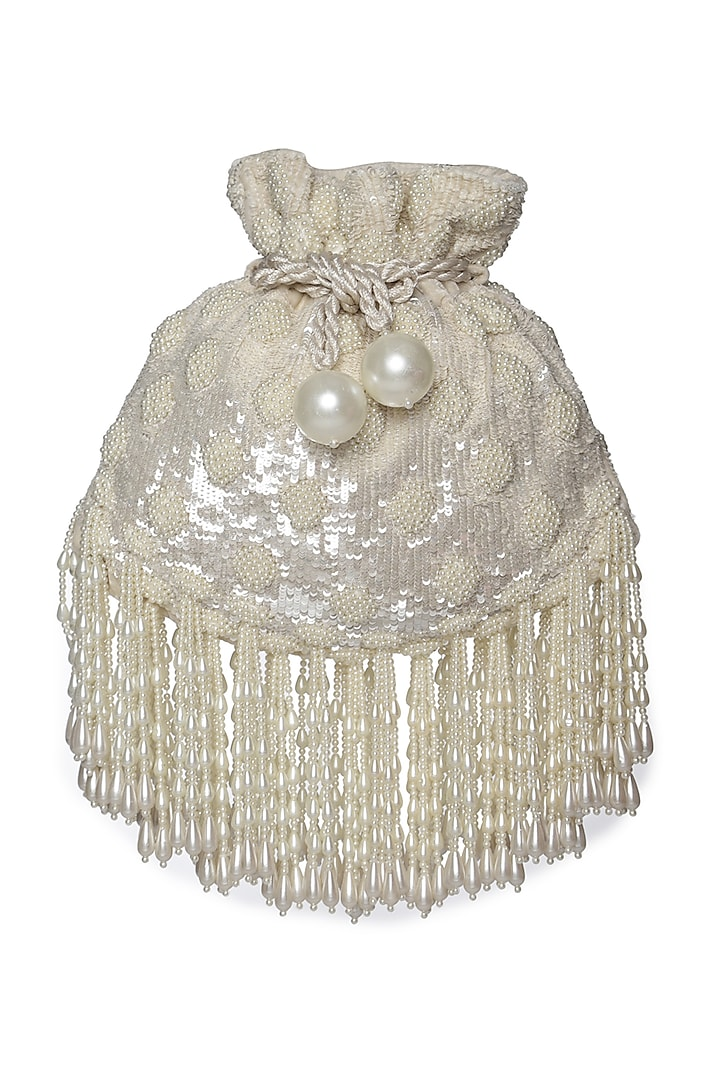 Ivory Potli With Pearl Work by Aanchal Sayal