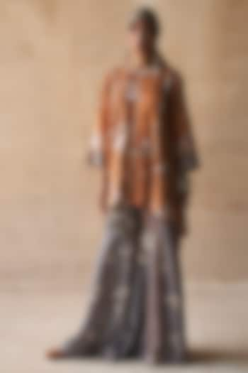 Genda Colored Textured Kurta Set by ASEEM KAPOOR