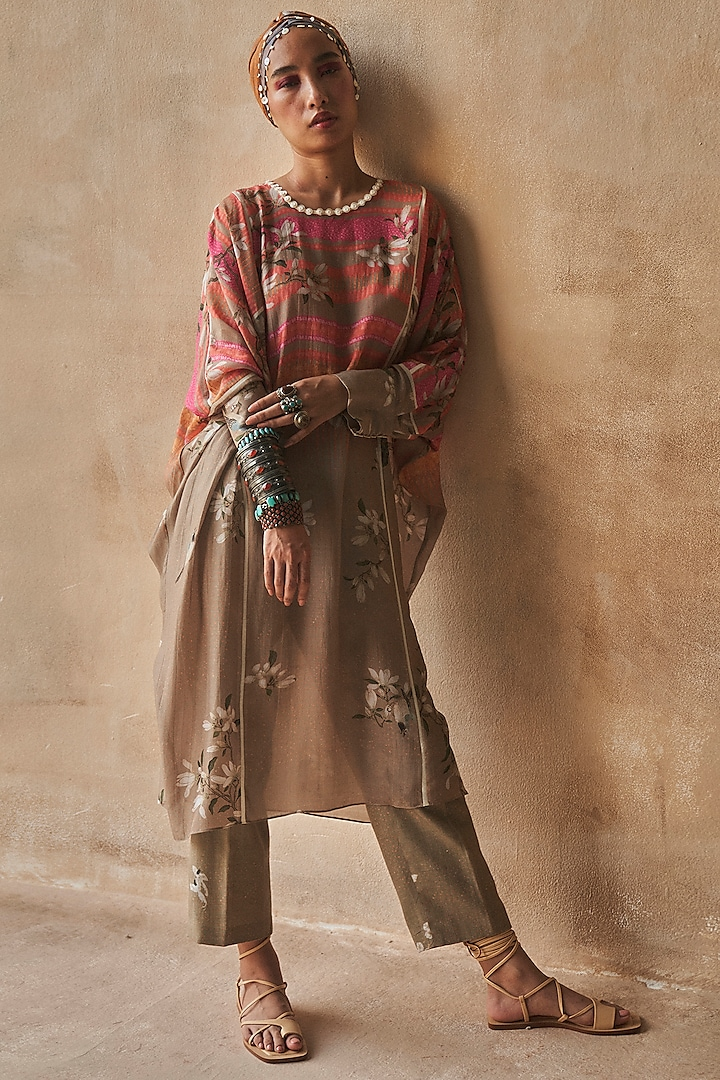 Bhura Colored Printed Tunic Set by ASEEM KAPOOR