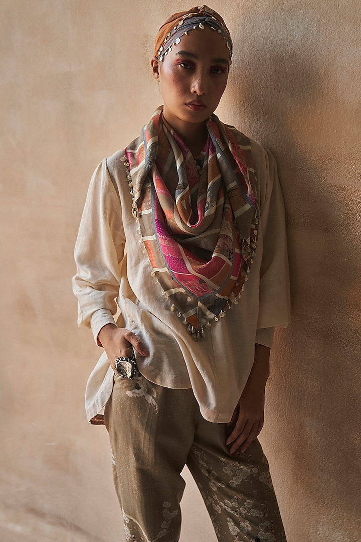 Multi Colored Stripes Scarf by ASEEM KAPOOR