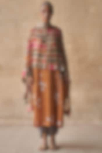 Multi Colored Striped Dupatta by ASEEM KAPOOR