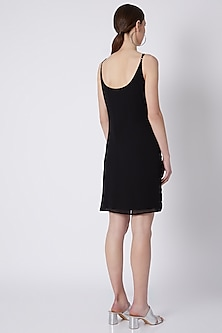 Black Beads Embroidered Dress by Attic Salt