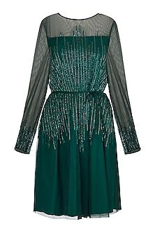 Green Sequins Dress by Attic Salt