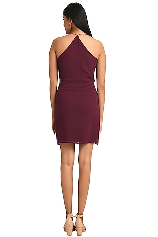Plum Georgette Strappy Dress by Attic Salt