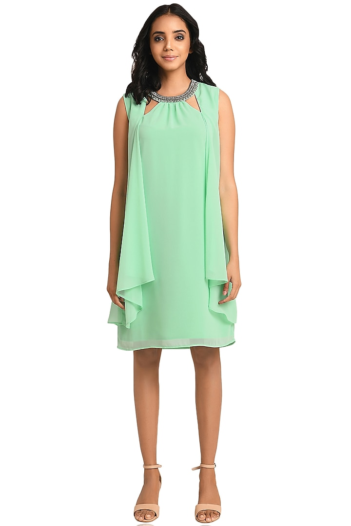 Green Embroidered Dress by Attic Salt