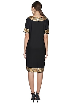 Black Sequins Embellished Dress by Attic Salt