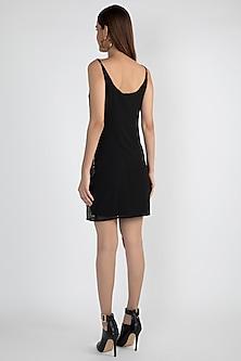Black Geometric Embellished Dress by Attic Salt