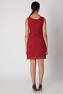 Red Beaded Embellished Dress by Attic Salt