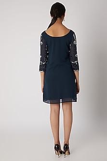 Navy Blue Embellished Dress by Attic Salt