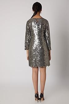 Antique Silver Handmade Embellished Dress by Attic Salt