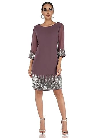 Grey Embellished Dress by Attic Salt