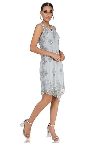 Light Grey Embellished Dress by Attic Salt