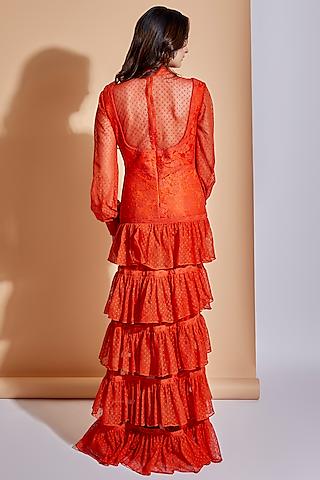 Marmalade Orange Layered Maxi Dress by ASRA
