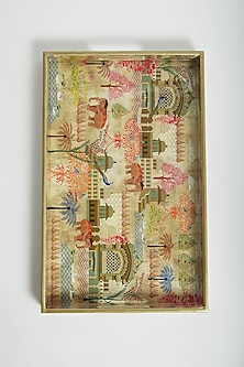 Multi Colored Royal Palace Landscape Tray by Assemblage