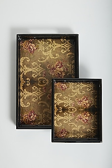 Multi Colored Vintage English Rose Trays (Set of 2) by Assemblage