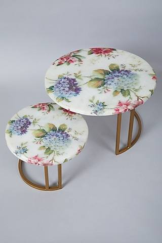White Marble Cake Stand (Set of 2) by Assemblage