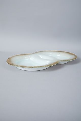 Gold & Ivory Dual Dip Platter by Assemblage