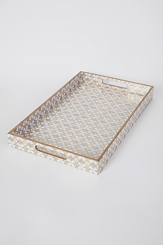 Ivory Engineered Wood Tray Set (Set of 3) by Assemblage