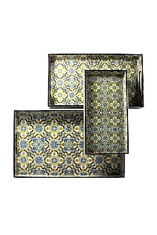 Venetian Blue Trays (Set of 3) by Assemblage