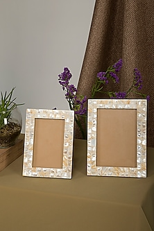 Handmade Mother Of Pearl Photo Frame (Set of 2) by Assemblage