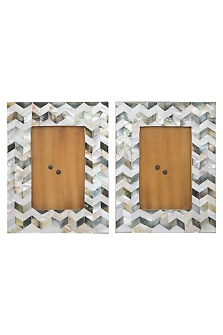 Handmade MDF & Glass Photo Frame (Set of 2) by Assemblage