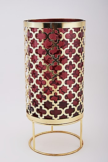 Gold & Red Candle Holder by Assemblage
