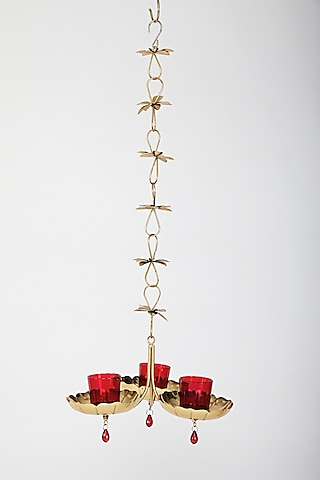 Gold Hanging Candle Holder by Assemblage