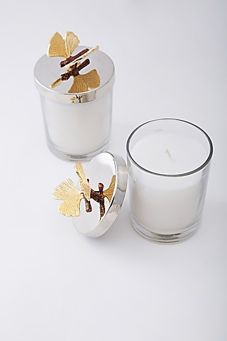 Butterfly Scented Candle Jars With Lid (Set Of 2) by Assemblage