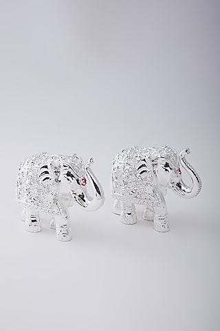 Silver Plated Resin Royal Elephant by Assemblage