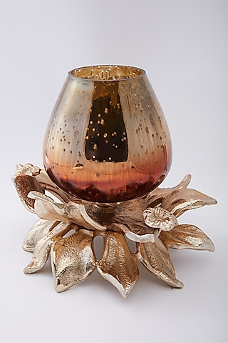 Antique Gold Double Lotus Fire Hurricane by Assemblage