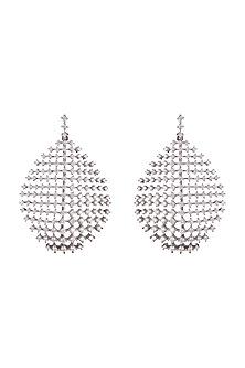 Black Rhodium Finish Diamond Earrings by Aster