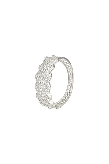 White Finish Openable Bracelet by Aster