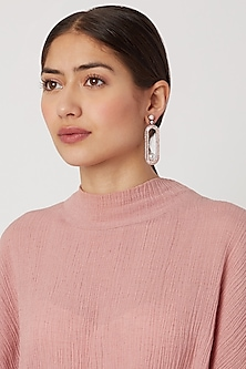 Rose Gold Finish Diamond Earrings by Aster