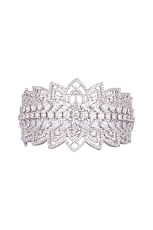 White Finish Openable Kada Bracelet by Aster
