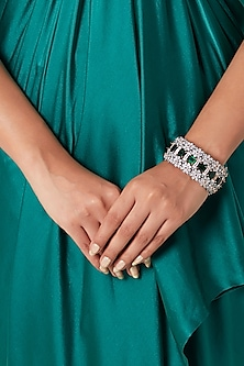 Black Rhodium Finish Openable Bangle by Aster