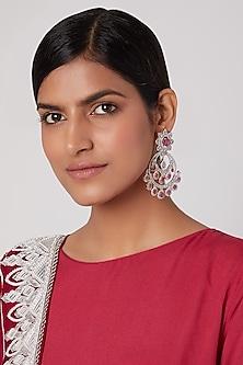 Gold Finish Chandbali Earrings by Aster