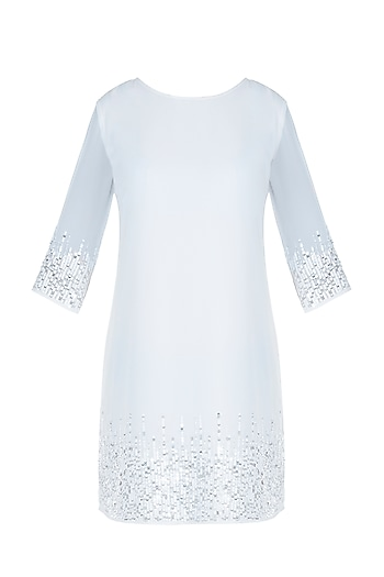 White embroidered dress by ATTIC SALT