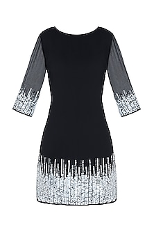 Black embroidered dress by ATTIC SALT