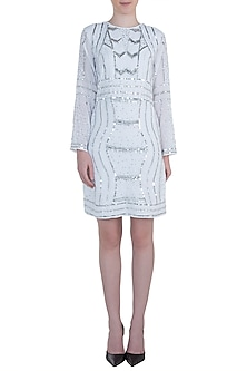 White sequins dress by ATTIC SALT