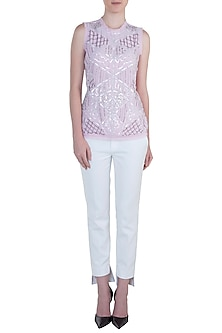 Pink embroidered top by ATTIC SALT