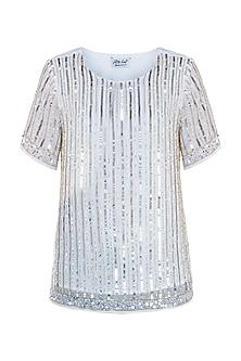 White sequins top by ATTIC SALT