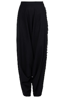 Black Dhoti Pants by Asmita Marwah