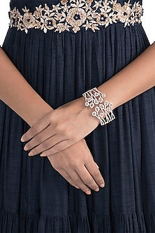 Silver Plated Faux Diamond Bracelet by Aster