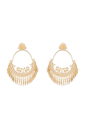 Gold plated Chandbali Earrings by Aster