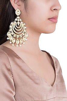 Gold Plated Long Earrings by Aster